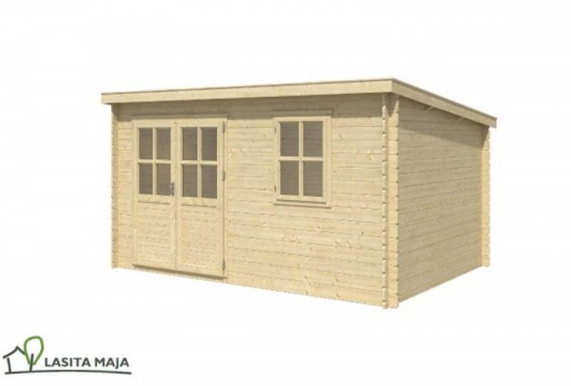 gartenhaus blockbohlenhaus flachdach amira 272 inkl dachpappe. Black Bedroom Furniture Sets. Home Design Ideas