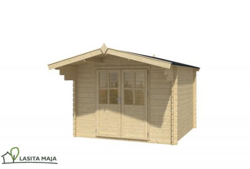 gartenhaus blockbohlenhaus satteldach nolan 172 inkl. Black Bedroom Furniture Sets. Home Design Ideas
