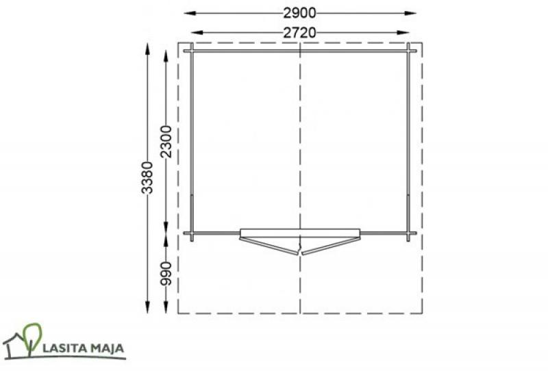 Lasita Maja Gartenhaus Blockbohlenhaus Satteldach Nolan 272 inkl. Dachpappe
