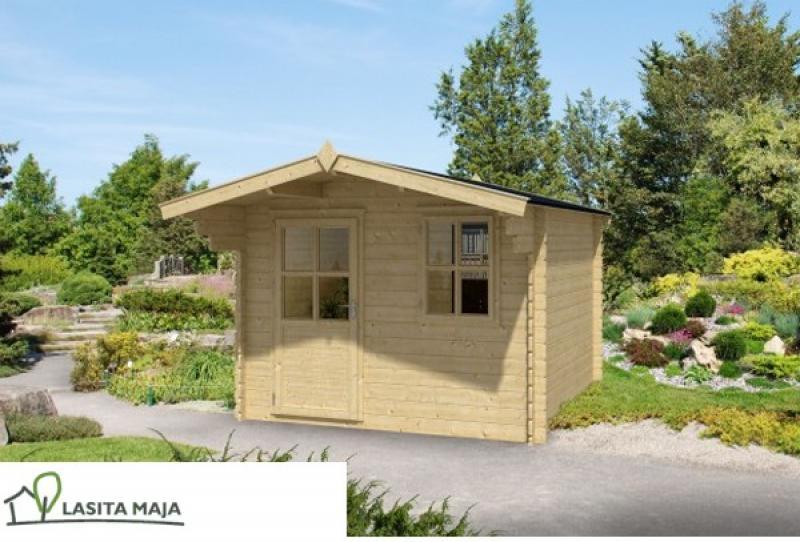 Lasita Maja Gartenhaus Blockbohlenhaus Satteldach Norah 272 inkl. Dachpappe