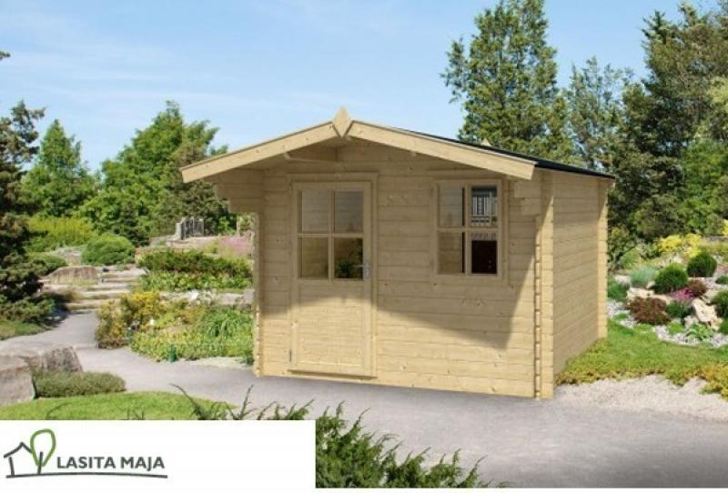 gartenhaus blockbohlenhaus satteldach noha 272inkl dachpappe. Black Bedroom Furniture Sets. Home Design Ideas