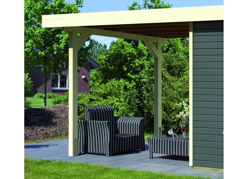 karibu holz gartenhaus 19mm schleppdach f r gl cksburg 2 elfenbeinwei. Black Bedroom Furniture Sets. Home Design Ideas