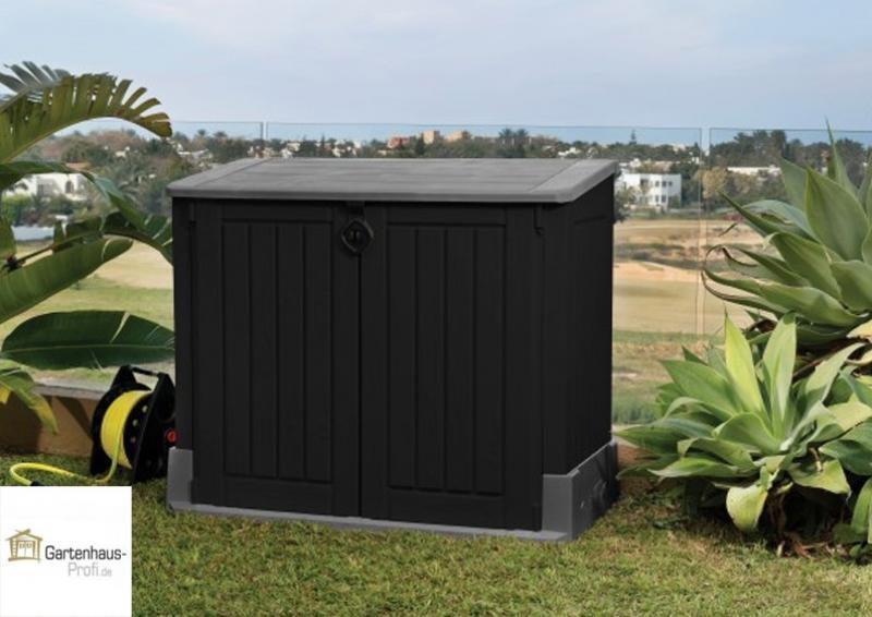 Tepro Kunststoff Aufbewahrungsbox -schrank Store It Out MIDI - schwarz-grau