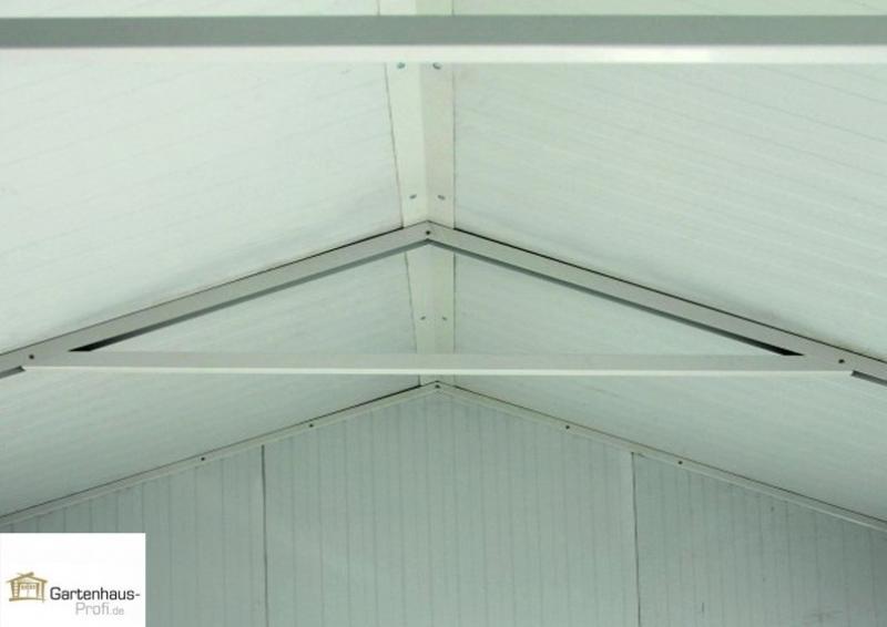 Tepro Metallgerätehaus Gartenhaus Cabana 10x13 - anthrazit-weiß
