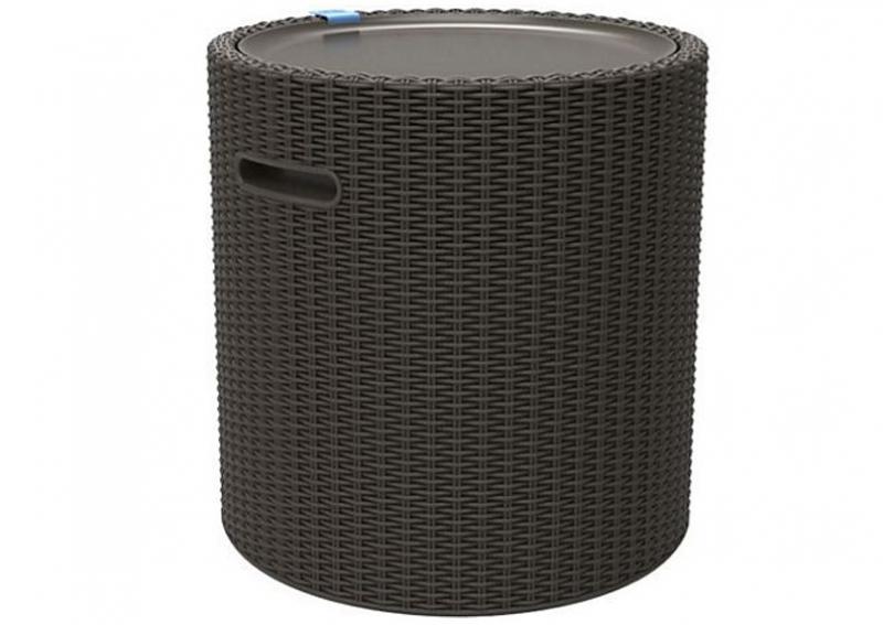 Tepro Cool Stool anthrazit - Kühlbox + Beistelltisch
