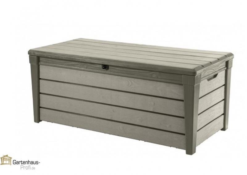 tepro kunststoff aufbewahrungsbox brushwood box 455 liter taupe. Black Bedroom Furniture Sets. Home Design Ideas