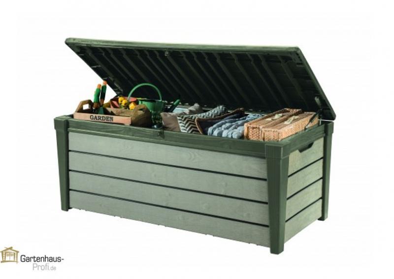 Tepro Kunststoff Aufbewahrungsbox Brushwood Box 455 Liter - taupe