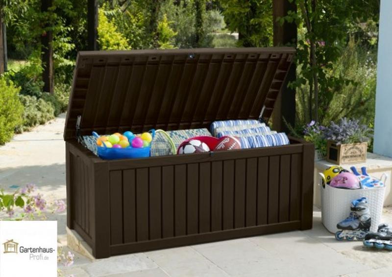 Tepro Kunststoff Aufbewahrungsbox Rockwood Box 570 Liter - espressobraun