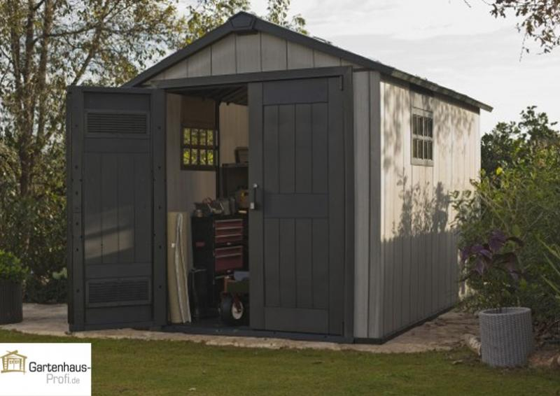 Tepro Kunststoff-Gerätehaus Gartenhaus Oakland 7511 - braun-grau