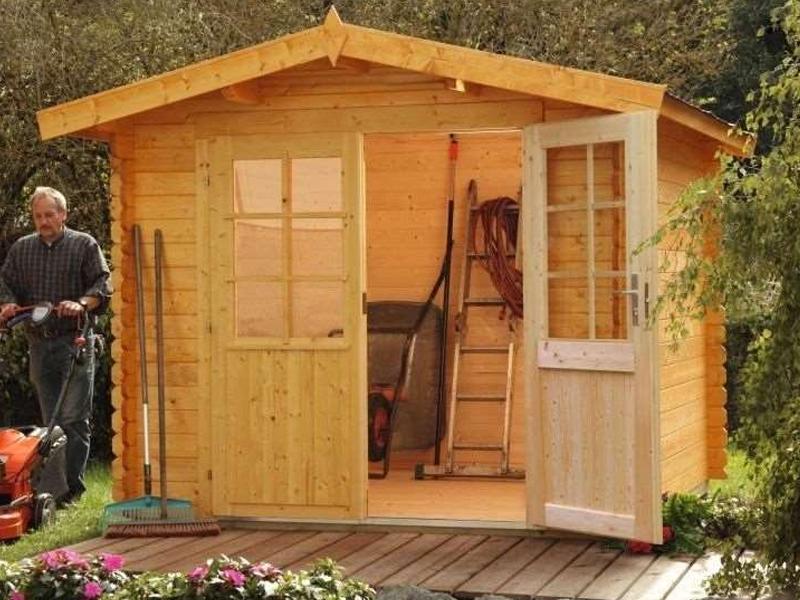 Wolff Finnhaus Holz-Gartenhaus Satteldachhaus Bibertal 28 mm XS