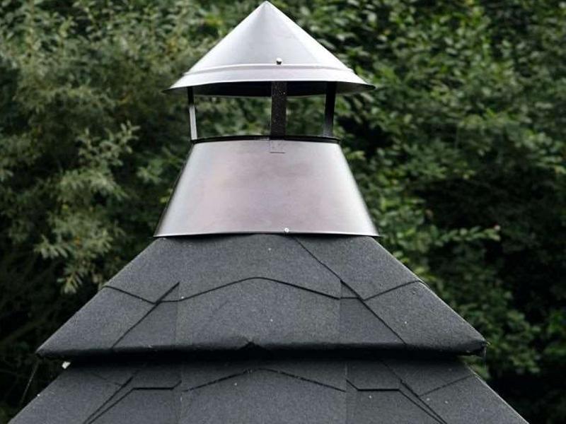 Wolff Finnhau Grillkota 17-A - inkl. Dachschindeln in schwarz - 445x445 cm