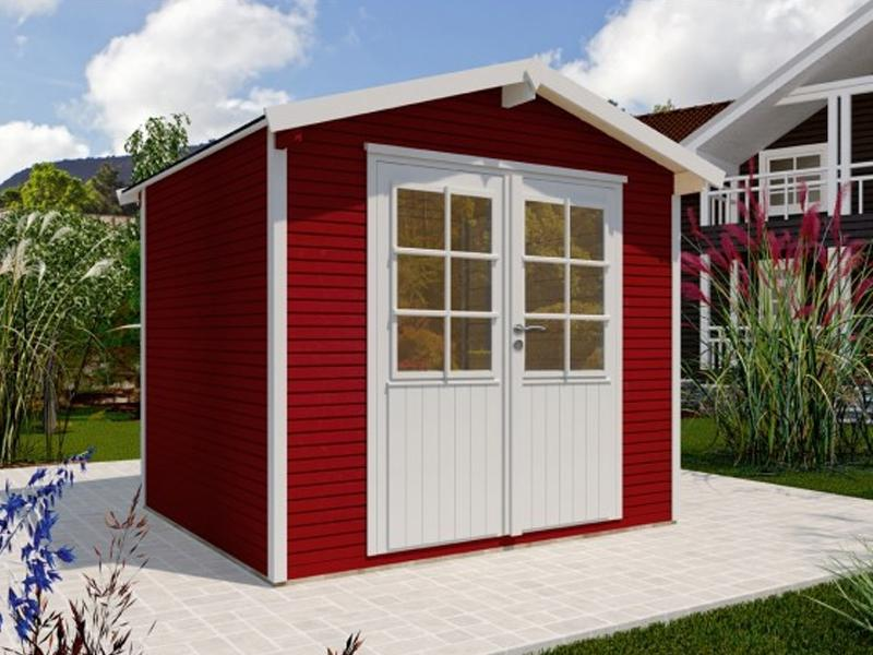 Wolff Finnhaus Holz-Gartenhaus Klassik 2424 Softline Schwedenrot