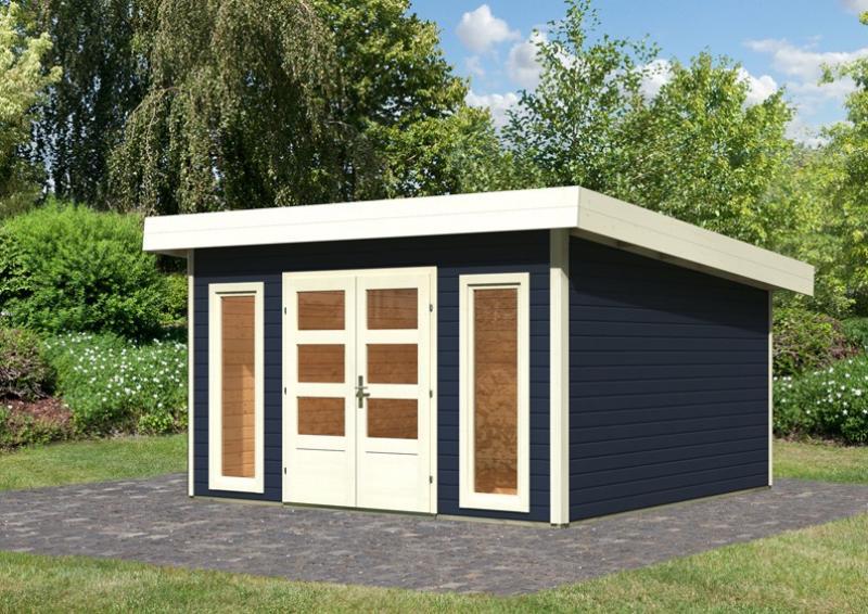 woodfeeling gartenhaus flachdach northeim 5 40 mm system opalgrau. Black Bedroom Furniture Sets. Home Design Ideas