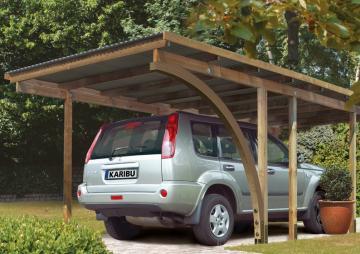 Karibu Einzelcarport Eco 1 Variante B - kesseldruckimprägniert