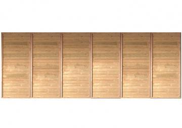 Karibu Rückwand für Doppelcarport (540 x 200cm)