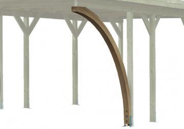 Karibu Einfahrtsbogen 1 Stück 9x9cm Leimholz für Carport ECO