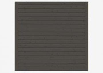 Karibu Seitenwand 244 cm für Schleppdach Cube - Farbe: terragrau