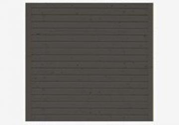 Karibu Rückwand 300 cm für Schleppdach Cube - Farbe: terragrau