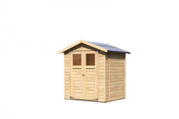 Karibu Gartenhaus Dahme 2 - 14 mm Gerätehaus in Systembauweise - naturbelassen