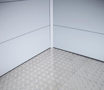 Wolff Finnhaus Metall-Gartenhaus Eleganto 1818: Fußboden Wandmaß: 150 x 150