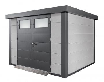 Wolff Finnhaus Metall-Gartenhaus Eleganto 3024 Dekorputz Wandmaß: 298 x 238