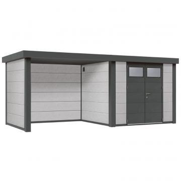 Wolff Finnhaus Metall-Gartenhaus Eleganto Lounge Links Dekorputz Wandmaß: 298 x 238