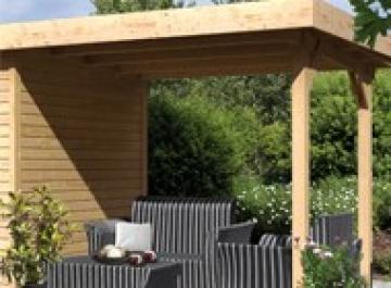 Karibu Schleppdach kombinierbar zu Limburg 3 - Farbe: natur