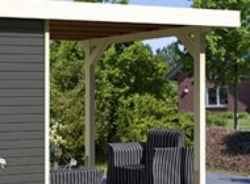 Karibu Schleppdach kombinierbar zu Limburg 5 - Farbe: elfenbeinweiß