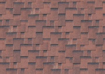 Karibu Dachschindeln Asymmetrisch - rot