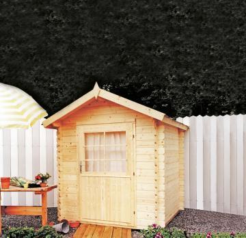 Wolff Finnhaus Holz-Gartenhaus Satteldach Holz-Gartenhaus Max 28 - 28mm Blockbohlen