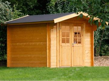 Wolff Finnhaus Holz-Gartenhaus Satteldachhaus Britta 34 mm A