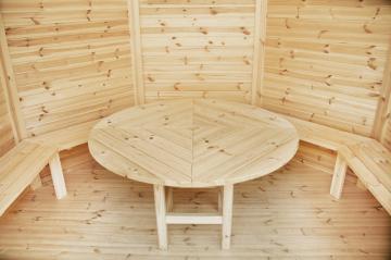 Wolff Finnhaus Holz Gartenpavillon Ibiza 42-B: Satz Bänke