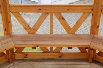Wolff Finnhaus GartenHolz Gartenpavillon aus Holz Kreta 8 XL (extra hohe Türe): Satz Bänke