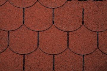 Wolff Finnhaus Holz-Gartenhaus Dachschindeln -  Biberschwanz rot