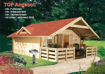 Sonderangebot: Karibu Gartenhaus Girion 5 Satteldach  40 mm System - natur