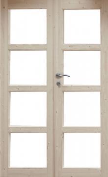 Wolff Finnhaus Holz-Gartenhaus Doppel-Tür -  Leif 28