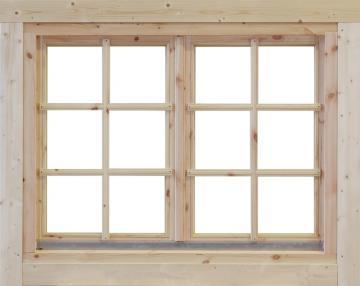Wolff Finnhaus Holz-Gartenhaus Doppel-Fenster -  Alina 34
