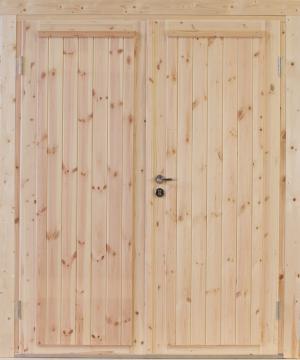 Wolff Finnhaus Holz-Gartenhaus Doppel-Tür -  Knut 70