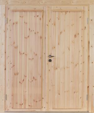 Wolff Finnhaus Holz-Gartenhaus Doppel-Tür -  Knut XL (extra hohe Türe) 34