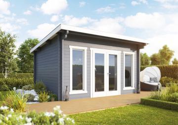 Wolff Finnhaus Holz-Gartenhaus aus Holz Flachdach 70mm Trondheim 70-A (2018) mit Wolff Finnhaus Holz-Gartenhaus Dachpappe -