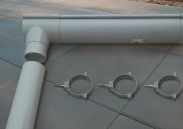 Karibu Dachrinne für Gartenhaus mit Flachdach - PVC