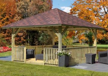 Sondernangebot: Karibu Holzpavillon Holm 1 4-Eck-Pavillon Premium - kdi
