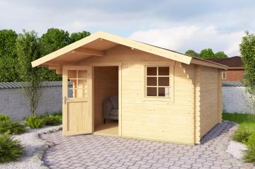 Lasita Maja Gartenhaus Blockbohlenhaus  Aktion 11 - 44 mm  - Sockelmaß: 300×300 cm