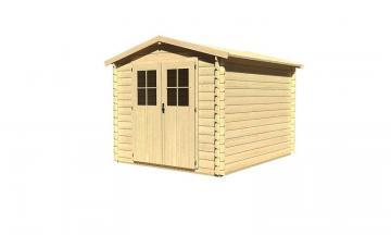 Woodfeeling Gartenhaus: Süden 4 - 28 mm Blockbohlenhaus   - naturbelassen