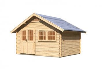Karibu Holz-Gartenhaus Doderic 3 Satteldach 40 mm Massiv - natur