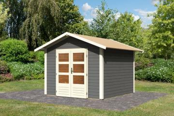 Woodfeeling Karibu Holz-Gartenhaus Talkau 6 in terragrau