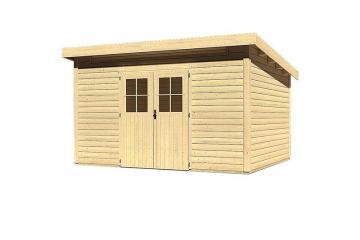 Woodfeeling Gartenhaus Kulpin 9 Pultdach 28 mm System - natur