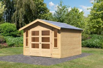 Karibu Holz-Gartenhaus  19mm Auburg 7 inkl. Türversion modern naturbelassen
