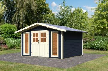 Karibu Holz-Gartenhaus  40 mm Bensburg 1 Türversion classic opalgrau