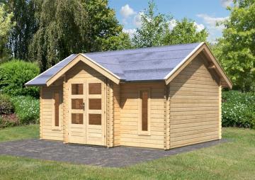 Woodfeeling Gartenhaus Nordland Satteldach 28 mm Blockbohlenhaus - natur